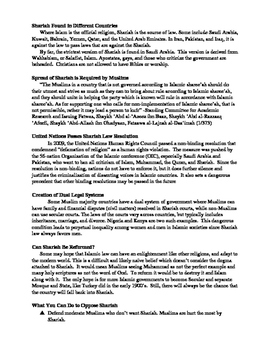 Shariah (Sharia, Islamic Law) in Islam, Muslim, ISIS, Saudi Arabia