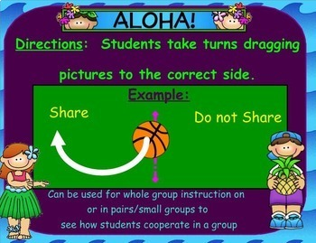 To Share or Not to Share? Using the Sharing Rules SMARTboard lesson