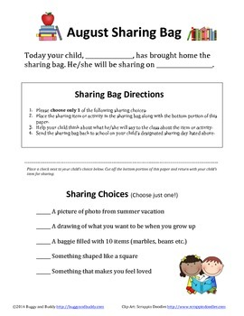 Sharing Bags for Every Month (Show-and-Tell)