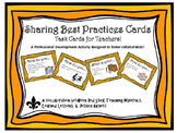 Sharing Best Practices Task Cards for Teachers!