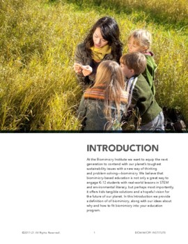 Sharing Biomimicry with Young People