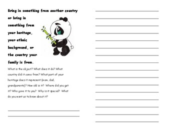 Sharing Booklet for Primary Show and Tell Time