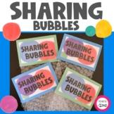 Sharing Bubbles Ice Breaker Activity