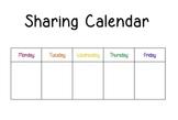 Sharing Calendar for Morning Meeting - Responsive Classroom