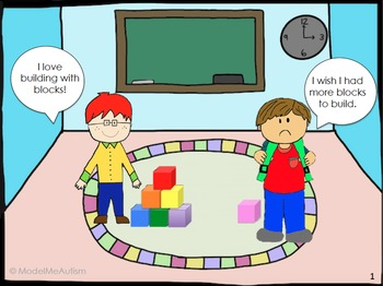 Social Skills: Sharing Comic Strip Social Story