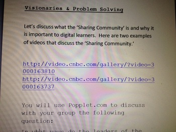 Sharing Community & Visionaries -- Digital Learning for Classroom or Lab