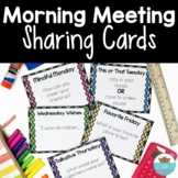Sharing & Discussion Morning Meeting Cards