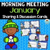 Sharing & Discussion Morning Meeting Cards- January