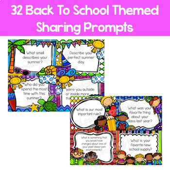 Sharing & Discussion Morning Meeting Digital Slides- Back to School September
