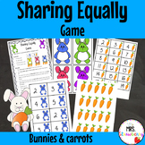 Sharing Equally Game {Bunnies and Carrots}