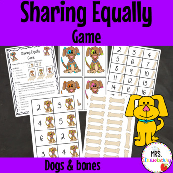 Sharing Equally Game {Dogs and Bones}