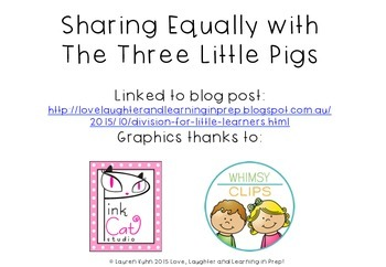 Sharing Equally with the Three Little Pigs FREEBIE