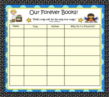 """Sharing """"Forever Books"""""""