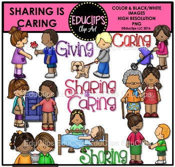 Sharing Is Caring Clip Art Bundle {Educlips Clipart}