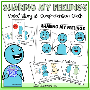 Sharing My Feelings- A Social Story for Behavior in Autism Units & Life Skills