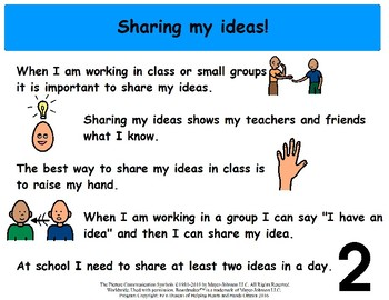 Sharing My Ideas - Social Story