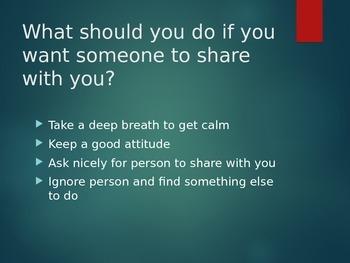 Social Skills - 'Sharing' PowerPoint