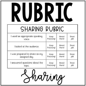 Sharing Rubric