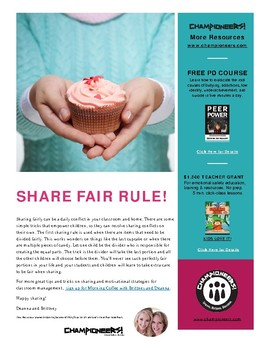 Sharing Rule #1: Share Fair
