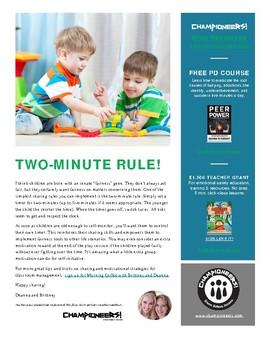 Sharing Rule #4: Two-Minute Rule