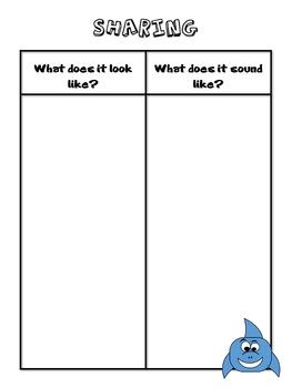 Sharing Shark - Student Success Skills/Character Traits Lesson