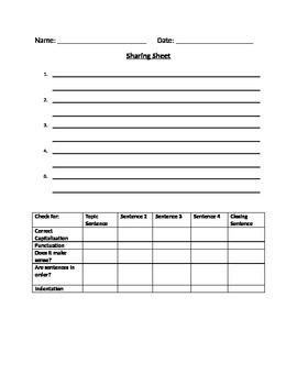 Sharing Sheet