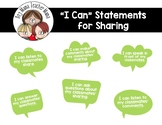 """I Can"" Statements for Sharing"