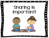 Sharing & Taking Turns Social Story