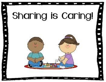 Sharing & Taking Turns Social Story Sharing is Caring