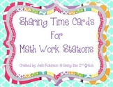 Sharing Time Cards for Math Stations