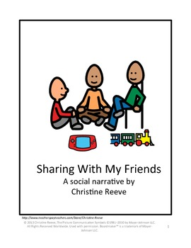 Sharing With My Friends A Social Narrative For Students