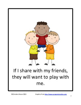 Sharing With My Friends: A Social Narrative (for students with autism)