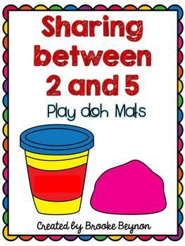Sharing between 2 and 5 - Play doh mats