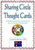 Sharing circle thought cards: 24 sentence prompt cards to