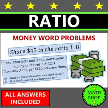 Math - Sharing money in a ratio - Test