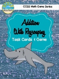 Shark! A 2-Digit Addition With Regrouping Game & Task Cards