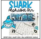 Shark Alphabet Bin