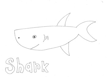 Shark: Animals and Pets: Colouring Page