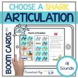 Shark Articulation Boom Cards™️ Speech Therapy | Sharks an