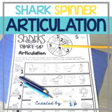 Shark Articulation: No Prep Spinner Speech Therapy Worksheets