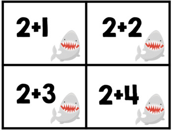 Shark Attack Addition Fact Game
