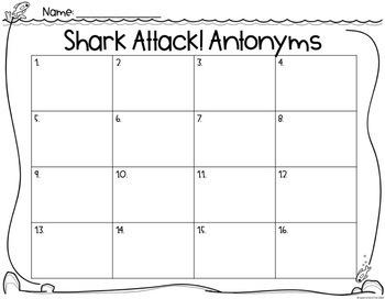 Shark Attack: Antonyms