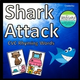 Shark Attack CVC Rhyming Words (Pictures)