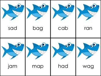 Shark Attack CVC Short A & O Words
