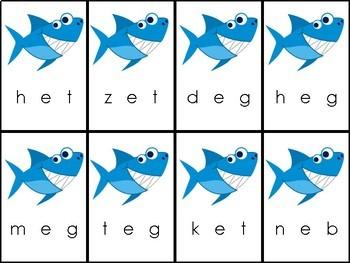 Shark Attack CVC Short E Words