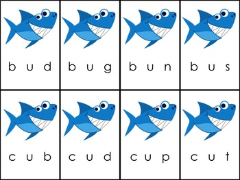 Shark Attack CVC Short Vowel Bundle