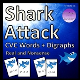 Shark Attack CVC Words + Digraphs