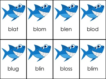 Shark Attack CVC Words + L Blends