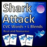 Shark Attack CVC Words + L Blends