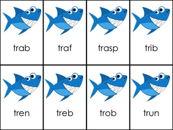 Shark Attack CVC Words + R Blends